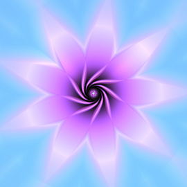 Flower 38 by Cassy 67 - Illustration Abstract & Patterns ( digital, love, harmony, star, abstract art, abstract, flower, digital art, pastel, classic, modern, trendy, light, fractal, energy )
