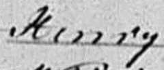 Snippet of name indexed as Kerry