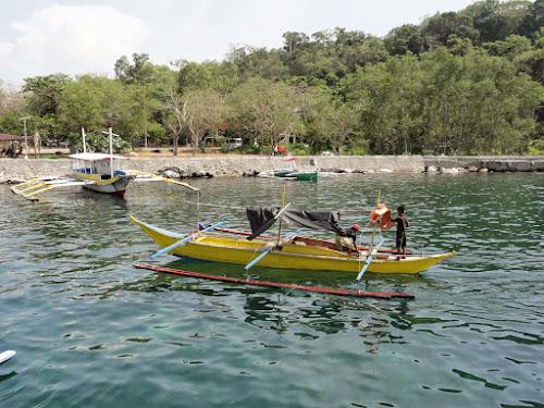 Bilde av en liten trimaran fiskebåt.