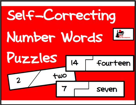Number Word self correcting puzzle - great math or litercy station to help students read number words. Free download from Raki's Rad Resources.