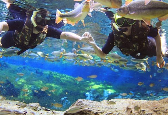Flutuação na Baía Bonita | Foto: Beth Bayma