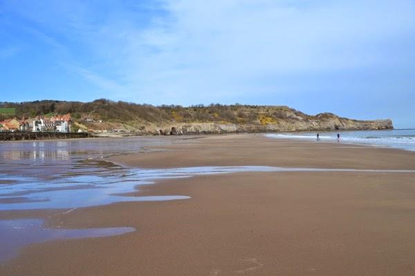 The beach behind