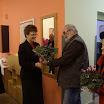 Csepiga István, a győri Graf-get igazgatója virággal érkezett