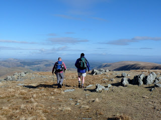 Walking towards another cairn on Rampsgill Head