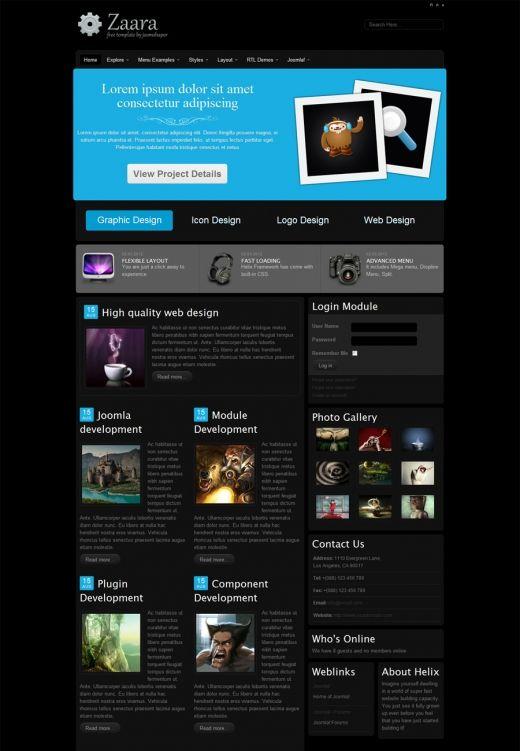Shaper zaara joomla 2.5 templates free