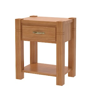 Phoenix Nightstand with Shelf