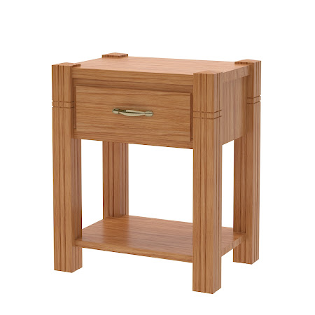 Phoenix Nightstand with Shelf, Manor Hickory