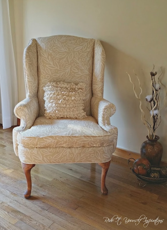 front of chair