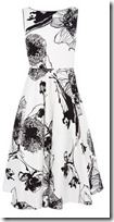Coast black and white print dress
