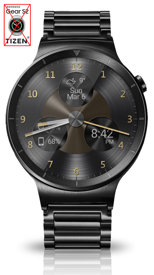 Black Metal HD Watch Face Screenshot 6