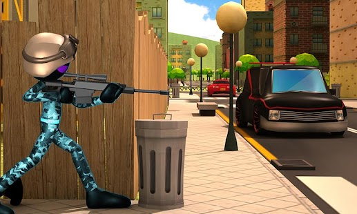 Stickman Sniper Squad 2017 1.1 (Mod Money) Apk