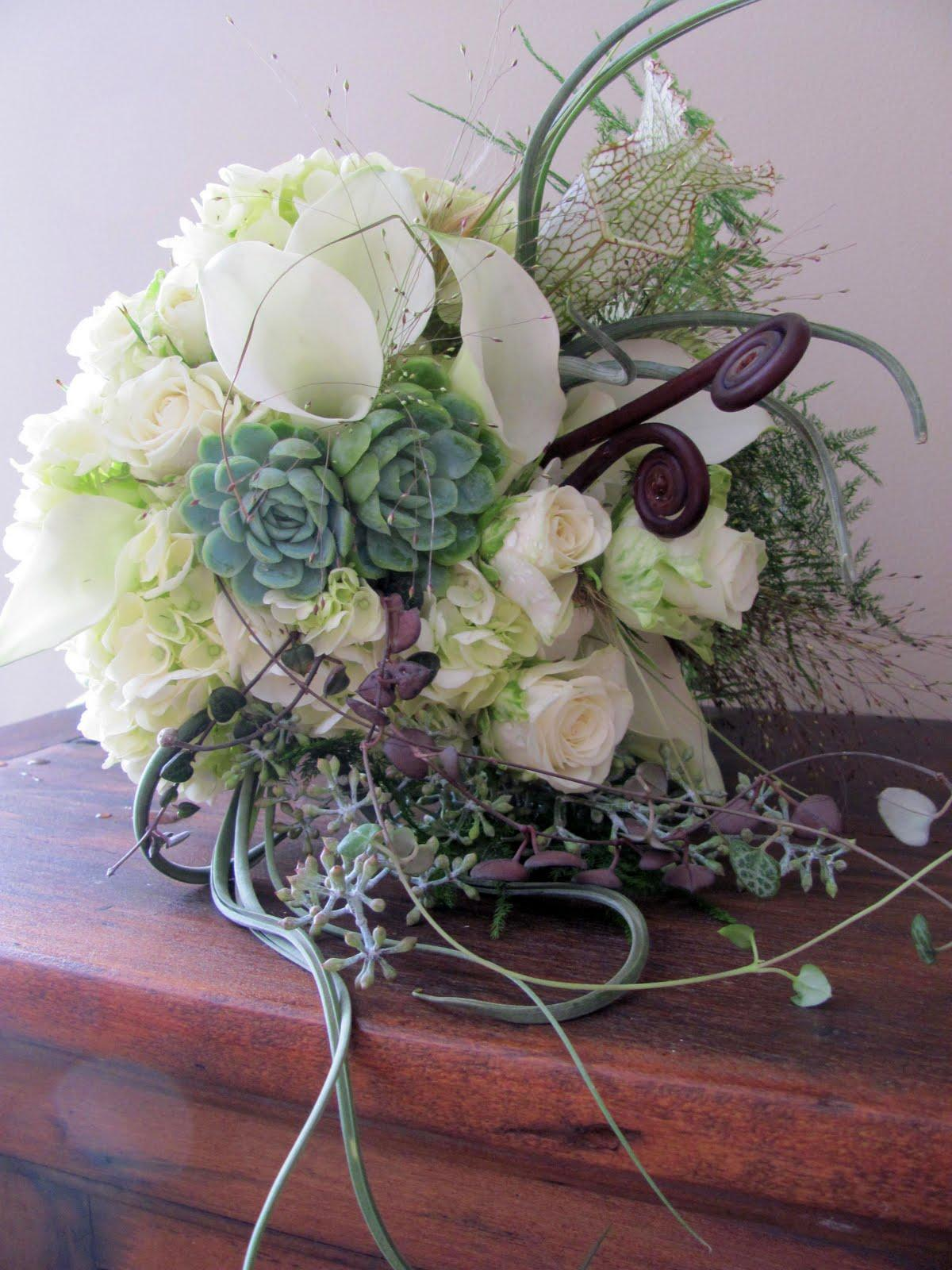 Modern-Rustic Bridal Bouquets