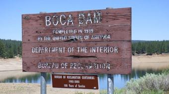 Boca Dam Sign