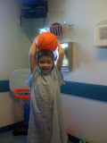 Before surgery for ear tubes....