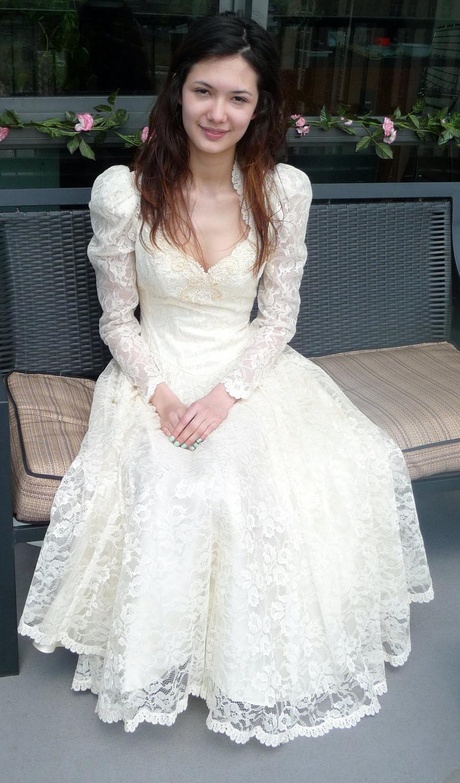 wedding dress, ivory, lace,
