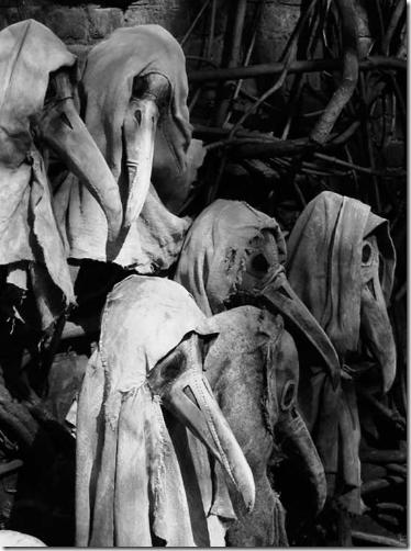 Máscaras usadas por los médicos durante la Peste Negra