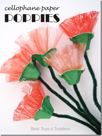 Poppy Flower Craft for Kids - These are so cute, unique and easy to make! Perfect spring or summer craft.