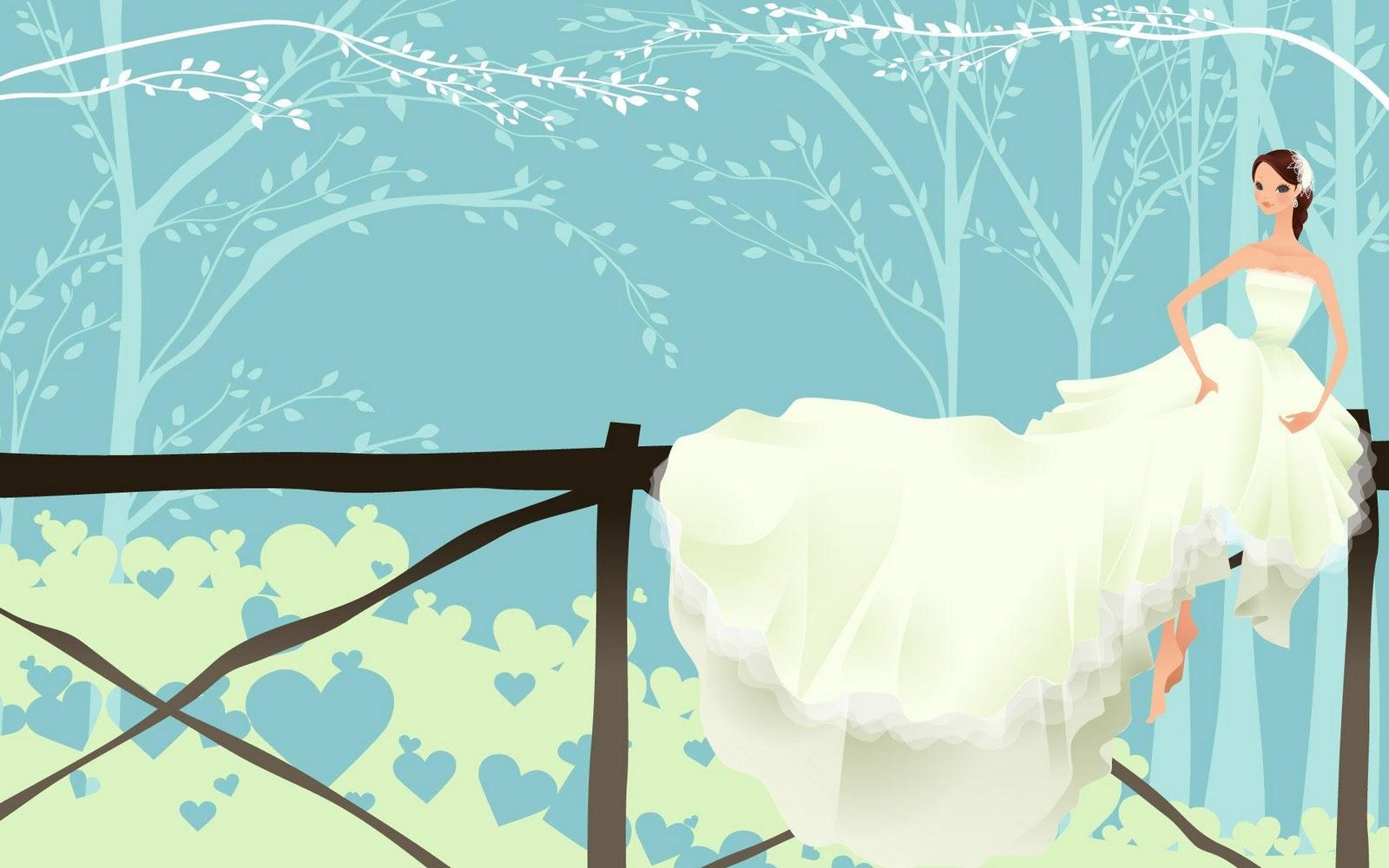 Cute Wedding HD background