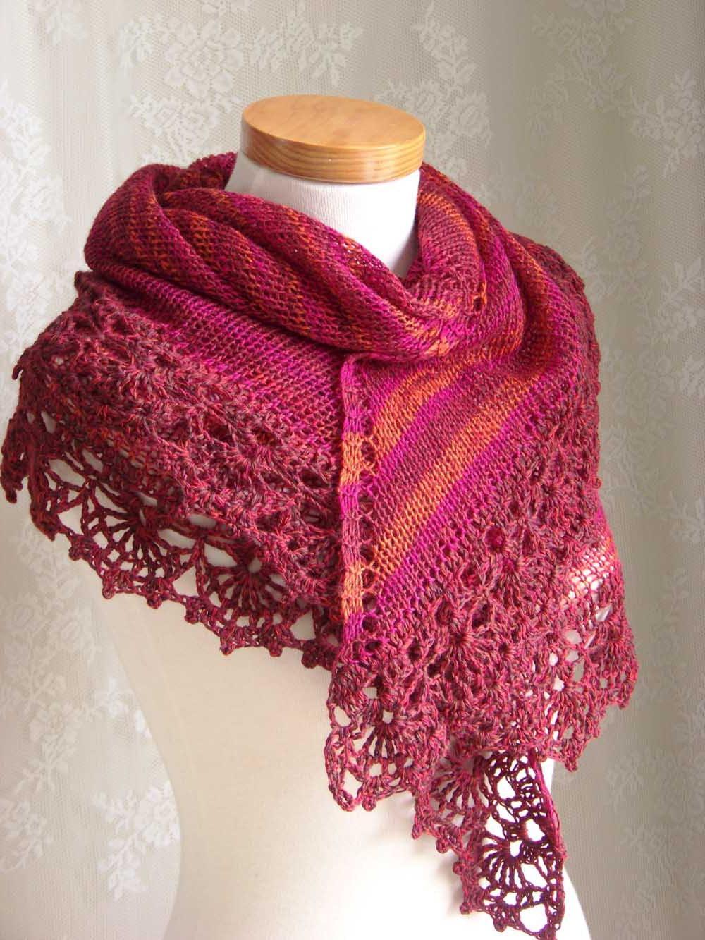 Knit crochet pattern, Red