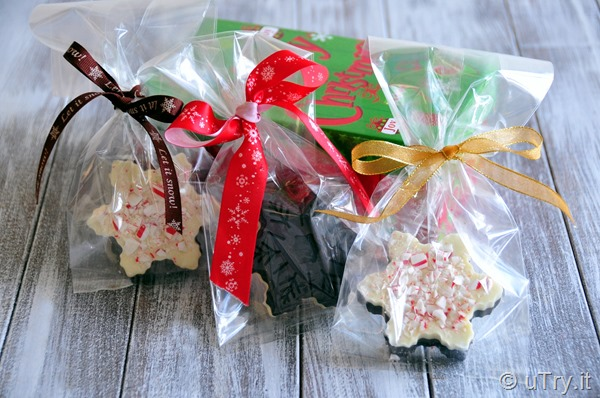 Check out how to make these festive Snowflakes Chocolate Peppermint Barks with video tutorial.  http://uTry.it