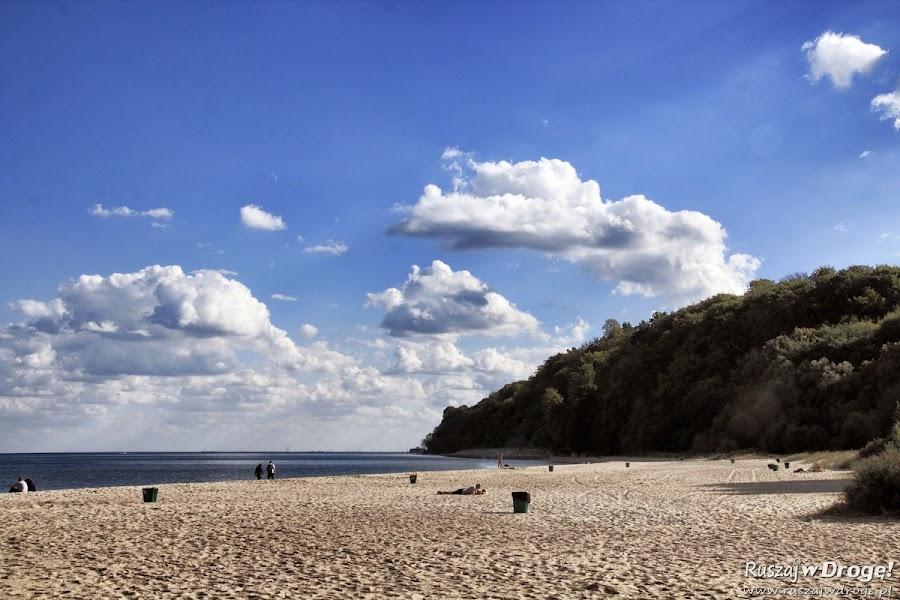 Plaża Gdynia Babie Doły poza sezonem