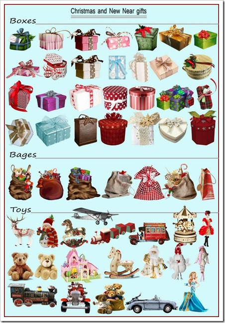 Christmas and new year gifts png