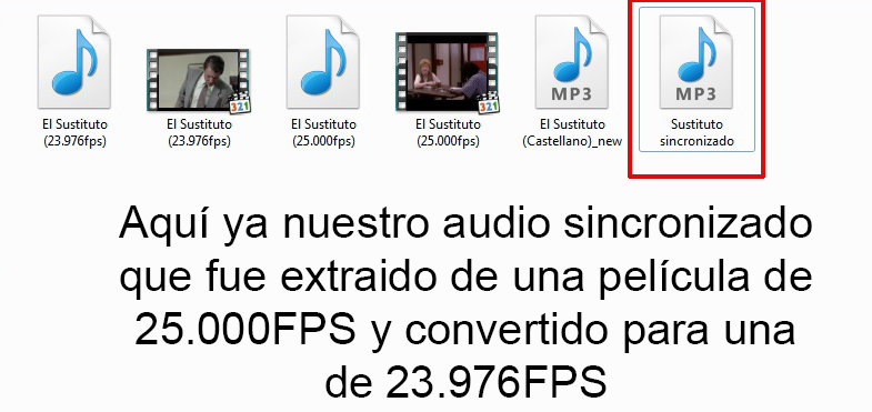 Tutorial sincronizar audio 25.00 fps a 23.976