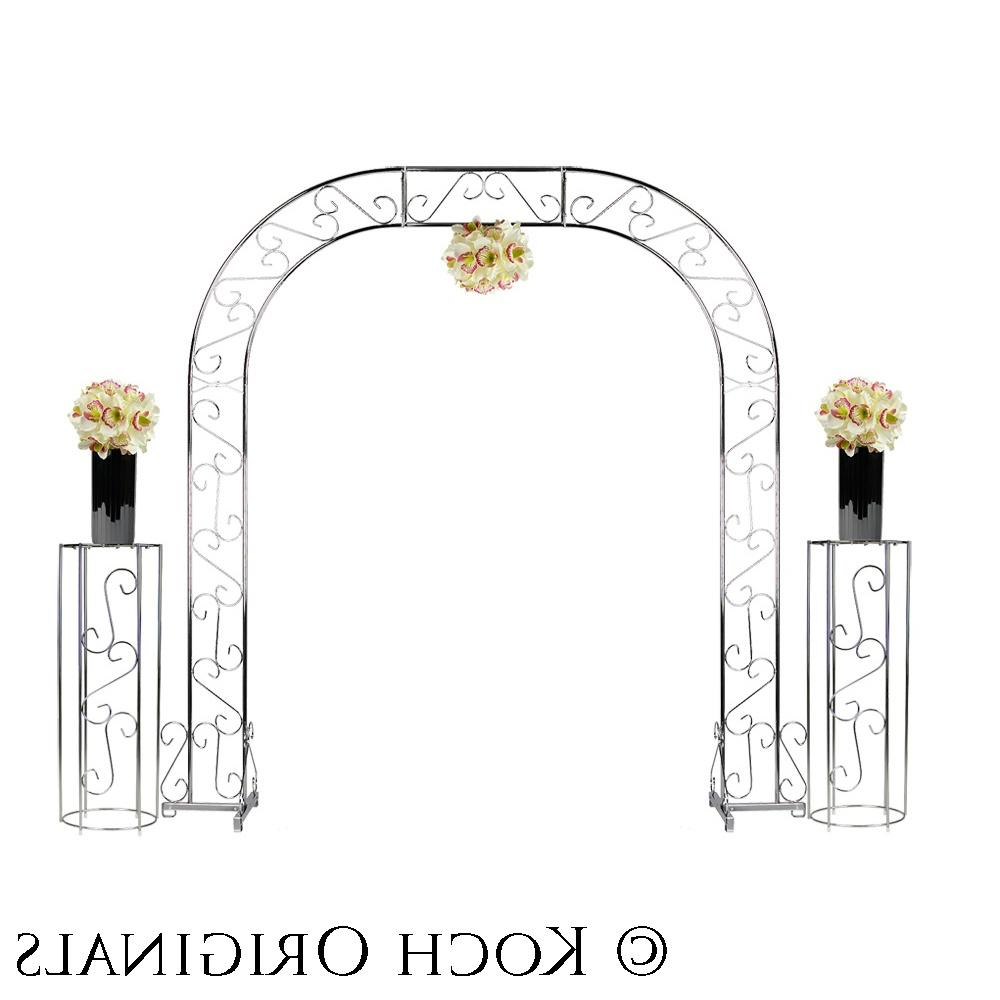 Wedding Arch w  Two Columns & Extender - 92 - Nickel