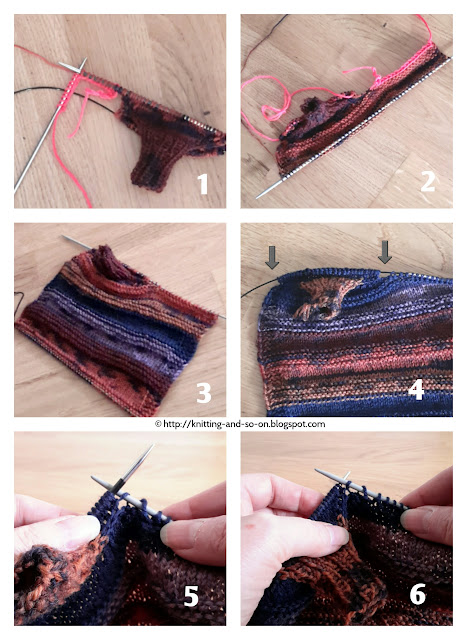 Knitting and so on: Strata Fingerless Gloves - Illustrations