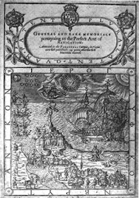 Cover of John Dee's Book General and Rare Memorials Pertaining to Perfecte Arte of Navigation