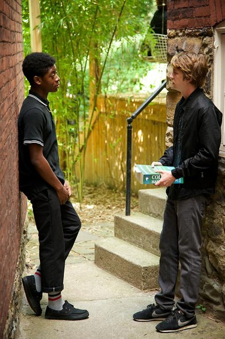 RJ Cyler and Thomas Mann in ME AND EARL AND THE DYING GIRL
