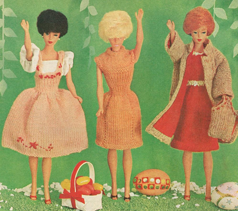 Vintage 1965 Barbie Knitting