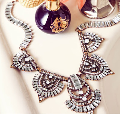 Olivia Palermo Jewelry Collection for BaubleBar Garbo Bib Necklace