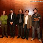 V-20: Los componentes de la Mesa junto a José Luis Ruiz del Puerto y el Maestro José Miguel Moreno