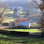 Site musée national de Port Royal des Champs : vue sur les vestiges de l'abbaye et l'oratoire