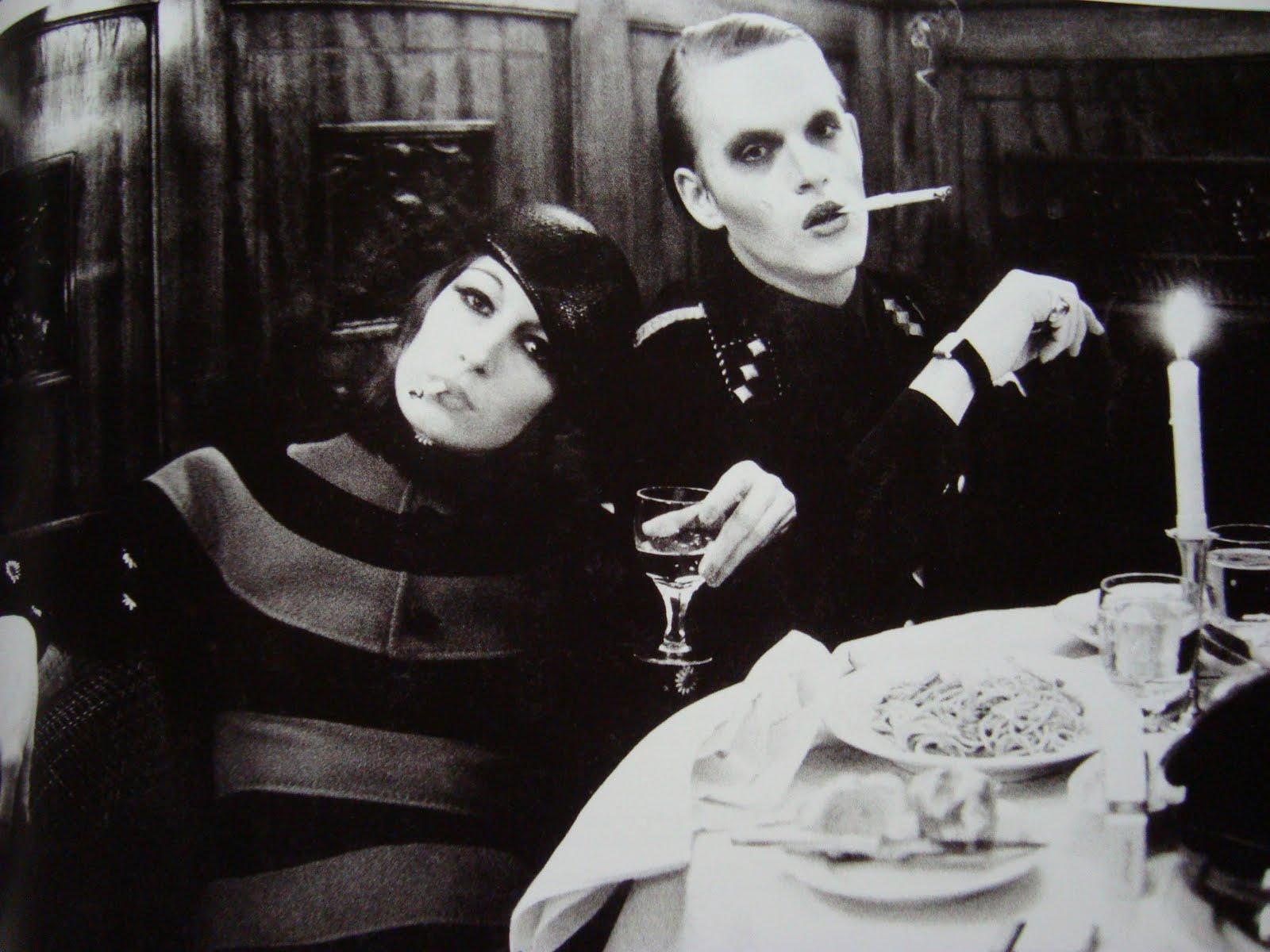 Anjelica Huston and Valentino