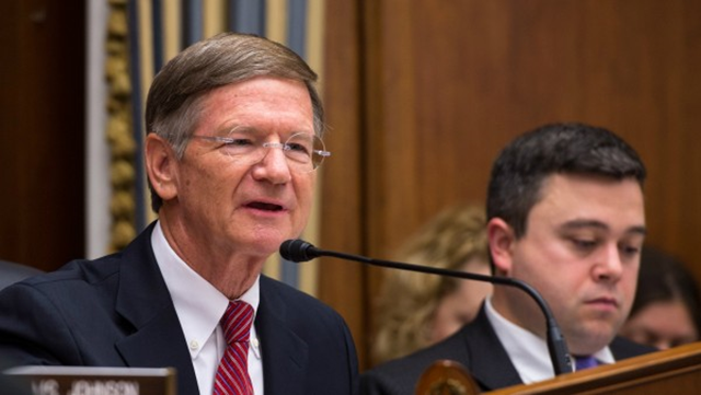 Rep. Lamar Smith (R-Texas), chairman of the House Science, Space, and Technology Committee held a full-committee event on 24 July 2014 at the Rayburn House Office Building in Washington, DC to allow members of the Committee on Science, Space, and Technology an opportunity to ask astronauts Steve Swanson and Reid Wiseman questions through a live downlink with the International Space Station (ISS). Photo: Aubrey Gemignani / NASA