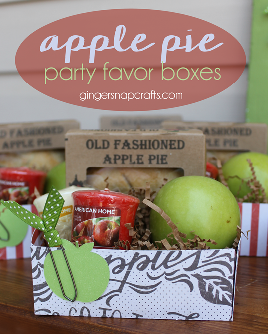 Apple Pie Party Favor Boxes at GingerSnapCrafts.com