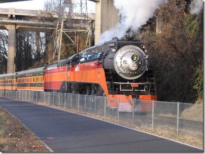 IMG_1097 Southern Pacific Daylight GS-4 4-8-4 #4449 in Portland, Oregon on December 11, 2009