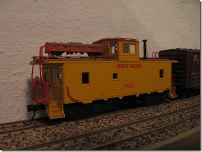 IMG_4627 T-Scale Train on HO-Scale Caboose