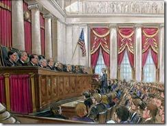 Supreme Court justices cartoon form