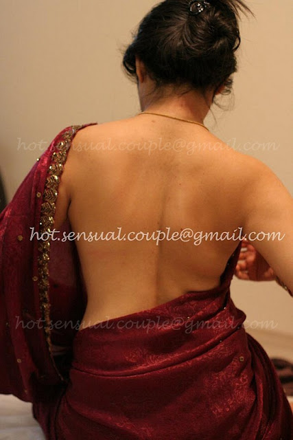 backless in saree