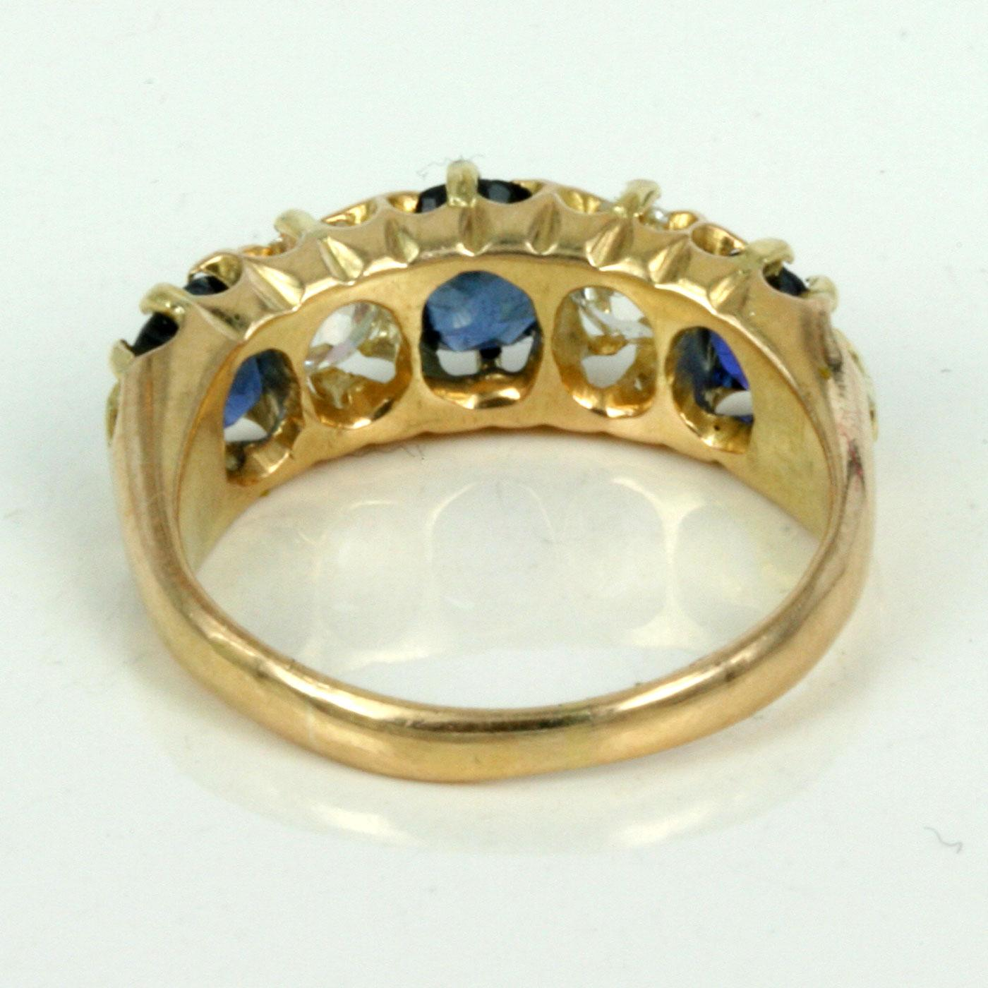 Antique sapphire and diamond