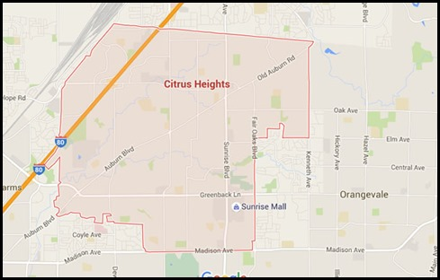 Citrus Heights Map