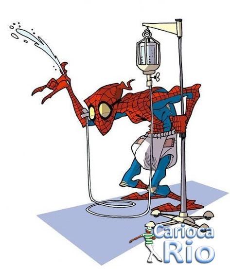 O tempo passa pra todos  - homem aranha