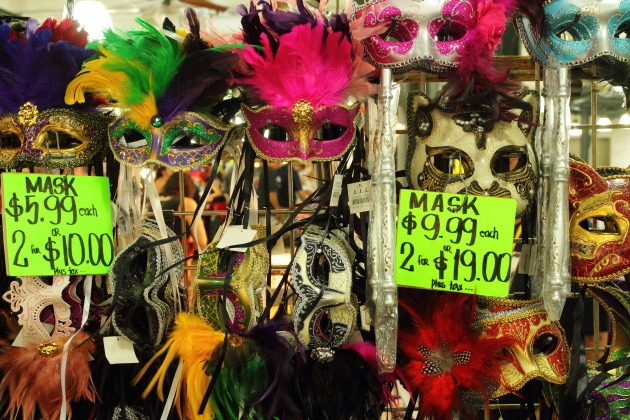 New Orleans Famous Mardi Gras Masquerade Masks