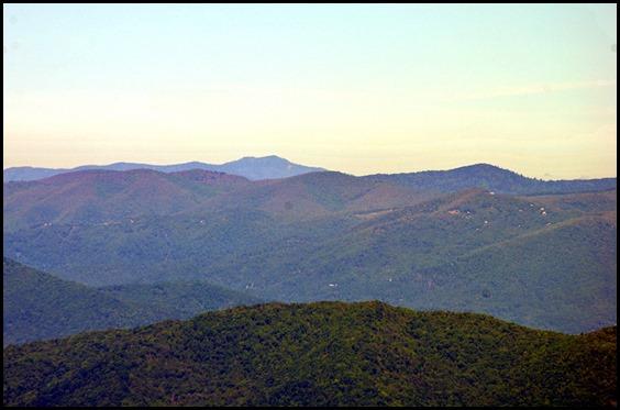 04e5 - Mt. Pisgah Summit View - Clingman's Dome and Mount Le Conte