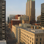 The view of downtown St Louis from our hotel room in St Louis 03202011