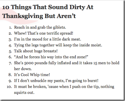 10 thanksgiving that sound dirty