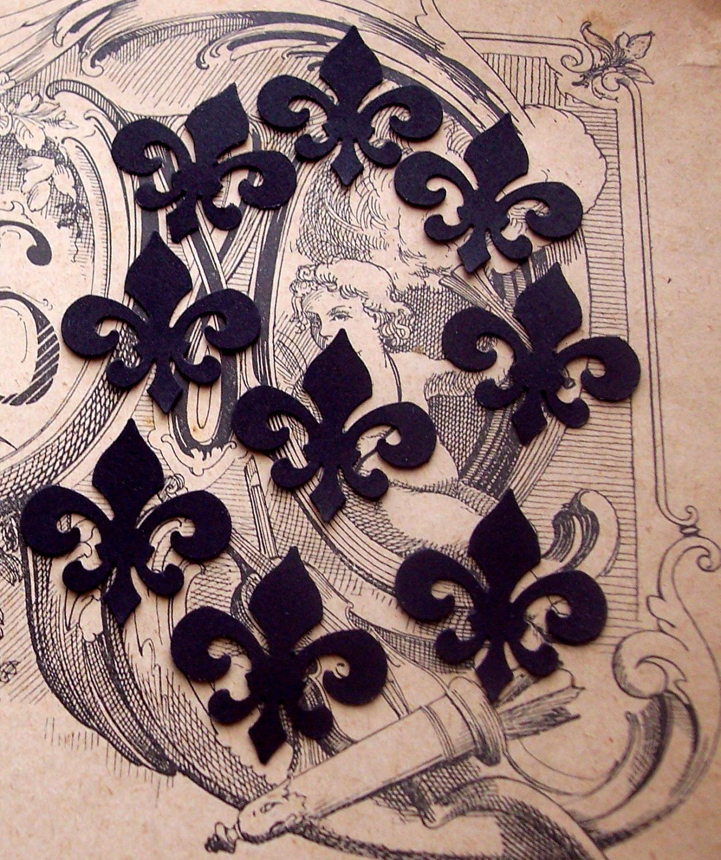 Black Fleur de Lis Hand